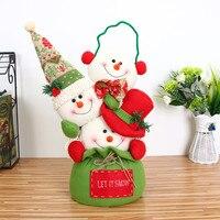 2017 NEW Hot Sale Merry Christmas Decor Toy Doll Gift Home Children Kids Santa Snowman Decors
