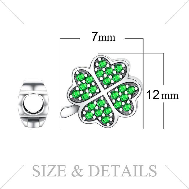 Lucky Green Clover Charm