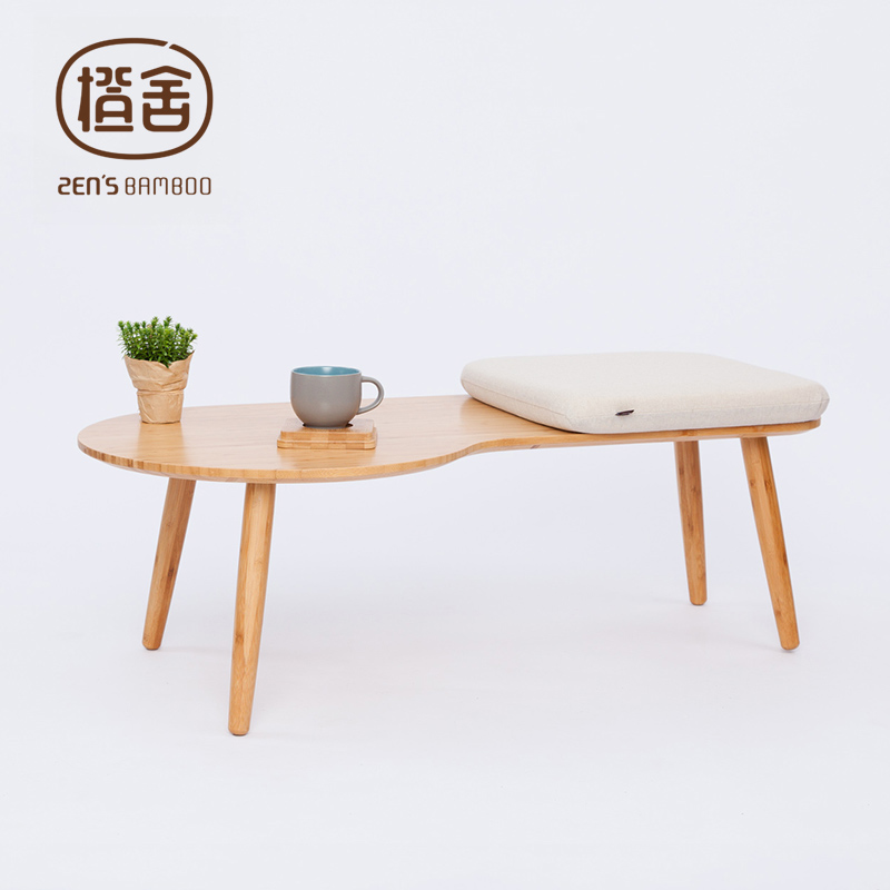 Living Room Table With Stools: ZEN'S BAMBOO Coffee Table Assembly Tea Table Modern Simple