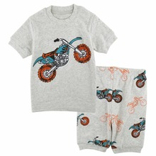 Kids Boys Pajama Set Toddler Moto Pyjama Baby Summer Short S