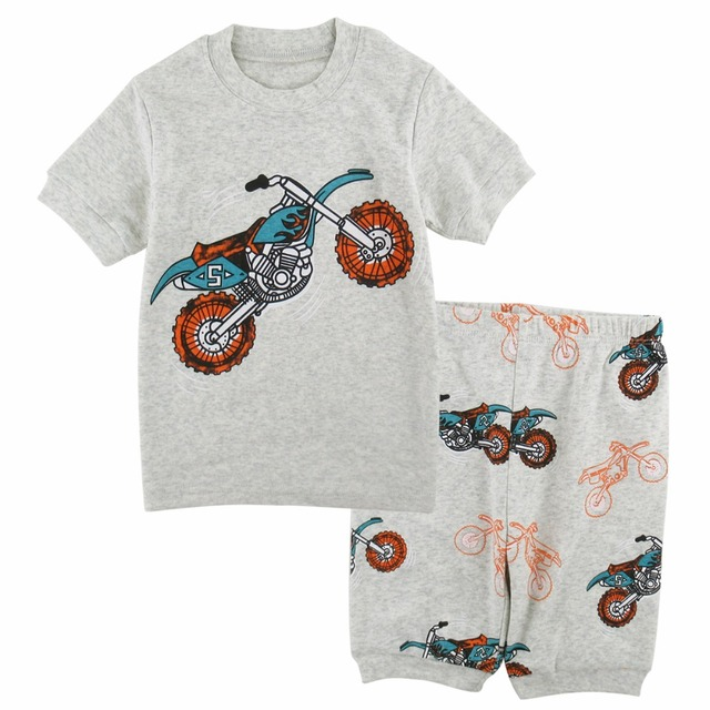 4df151d42 Pajamas For Boys Motorcycle Sleepwear Pyjamas Kids Cartoon Pajama ...