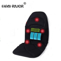 Massage Chair Cushion For Neck Shoulder Back Waist With Far Infrared Heating And Vibration Massage Heat