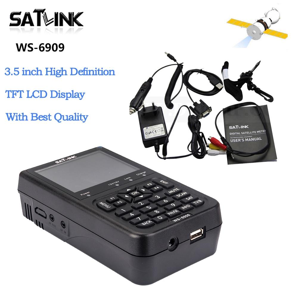 Best Quality Satlink WS-6906 3.5 DVB-S FTA Digital Satellite Meter WS 6906 Satlink ws6906 With High Definition Satellite Finder satlink ws 6979se dvb s2 dvb t2 mpeg4 hd combo spectrum satellite meter finder satlink ws6979se meter pk ws 6979