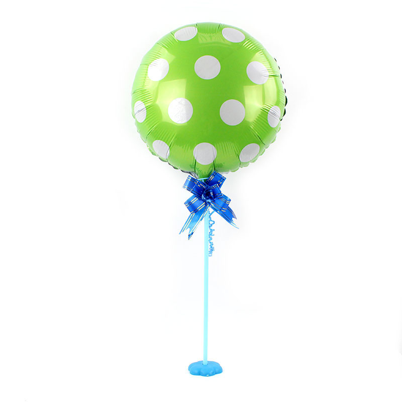 10sets lot 18inch candy dot Foil Balloons Table column ballon Birthday party decorations kids globos base event party supplies in Ballons Accessories from Home Garden