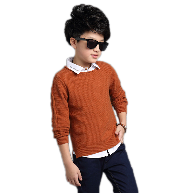 Baby Boy Aweater 2018 Spring Sweater Kids Pullover Wool Knitted O-neck Long-sleeve Autumn School Boys Sweater Kids Wool Sweaters girl sweater dress superfine wool knitted dress 2015 o neck pocket long sweater tassels christmas children clothing kids dresses