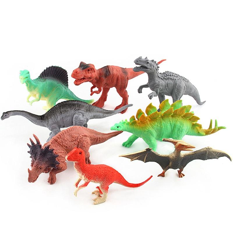(8/12/20 հատ / լոտ) Dinosaur Toy Model Model Plastic - Խաղային արձանիկներ - Լուսանկար 3