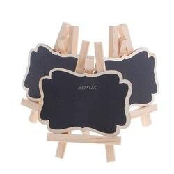 3 pçs mini quadro negro de madeira suporte casamento festa mesa decoração tags novo whosale & dropship