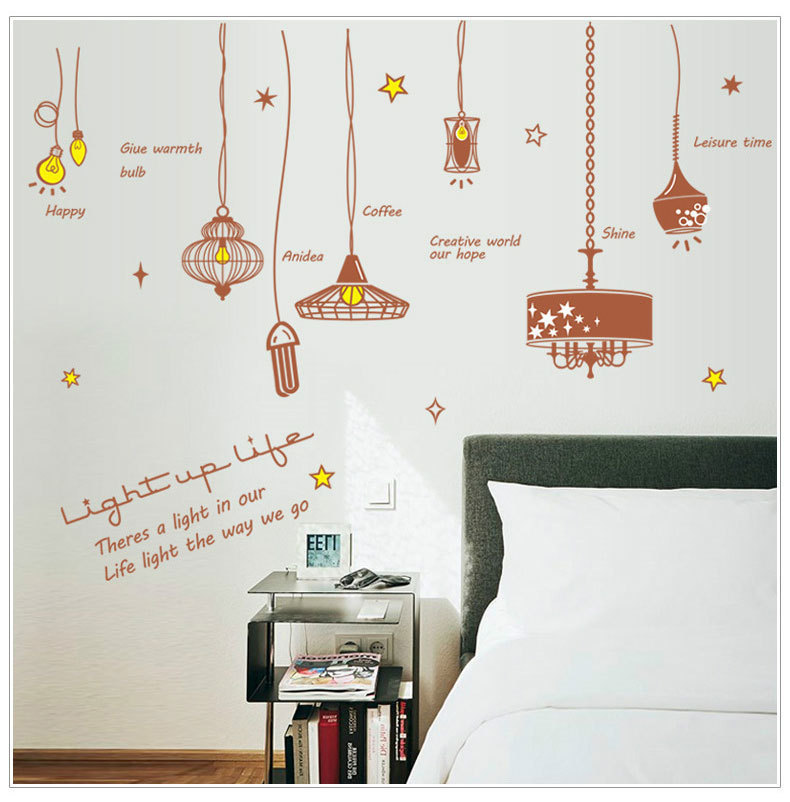 2018 Home Decoration Accessories Wardrobe Wall Sticker Living Room Study Childrens Can Remove Waterproof For A Replacement.