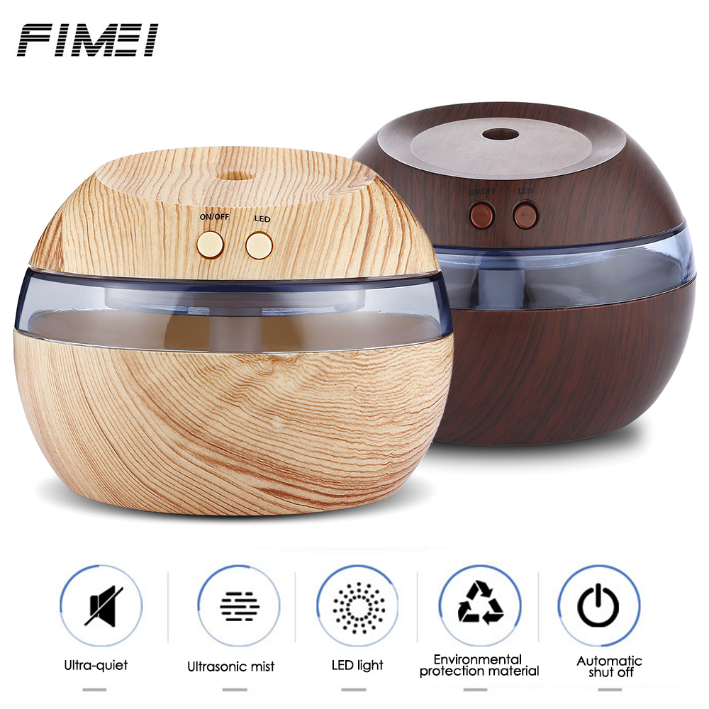 Fimei 290ml USB Aroma Essential Oil Diffuser Humidifier Ultrasonic Air Purifier LED Blue Night light Mist Maker for Office Home novelty aroma diffuser with flame atmosphere led night light air humidifier essential oil diffuser mist maker for home office