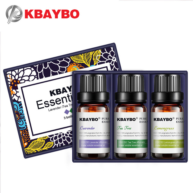 KBAYBO Essential Oils for Aromatherapy Diffusers Humidifier Home Plant Flavor Lavender Tea Tree Lemongrass Rosemary Orange