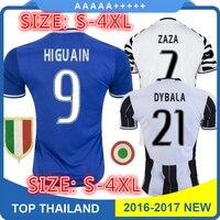 KK Sales 2017 Top Best Qualit Juventuses Soccer Jersey Adult Shirt 16 17 Home Away 3RD