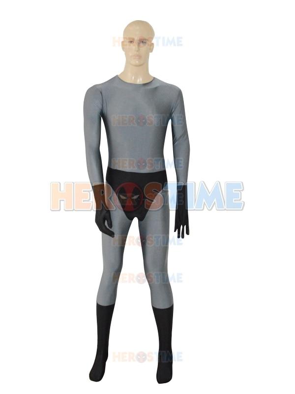 Rode zoon superman grijs superheld kostuum spandex fullbody zentai - Carnavalskostuums - Foto 2