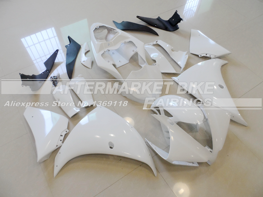Complete Motorcycle Unpainted ABS Fairing Kit For Yamaha YZF R1 2012 2013 2014 Injection Moulding Blank Bodywork complete motorcycle unpainted abs fairing kit for yamaha yzf r1 2000 2001 injection moulding blank bodywork