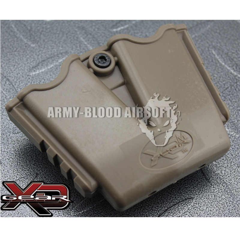Chiến thuật Springfield Armory XD Gear 3508MP XDM Đúp Magazine Pouch Kép tạp chí (DE) holster