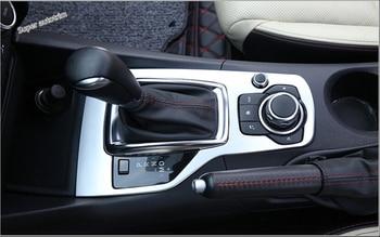 Lapetus Mazda 3 AXELA Için Hatchback Sedan 2014 2015 2016 ABS Aksesuarları Iç şanzıman vites Vites Paneli Kapak Trim 1 Adet