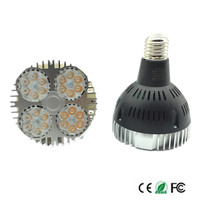 Ultra Bright E27 PAR30 35W 24LEDS led spotlight bulb,led track light AC85 265V led e27 par30 lamp bulb 20pcs/lot DHL free ship