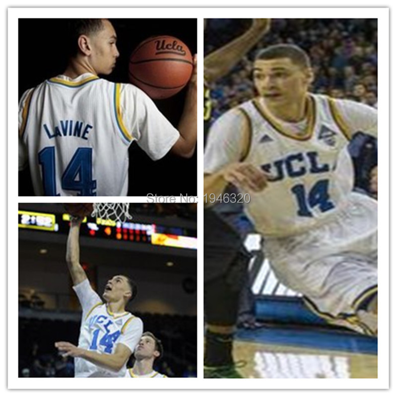 super popular ba018 cd99a 14 Zach LaVine UCLA Bruins College Jersey blue,white,custom ...