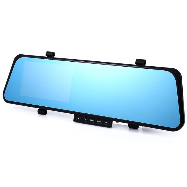 1080P Full HD 4.3 inch G-sensor Dual Lens Rearview Camera Car DVR Dash Cam Recorder Video Rear View Mirror with Night Vision
