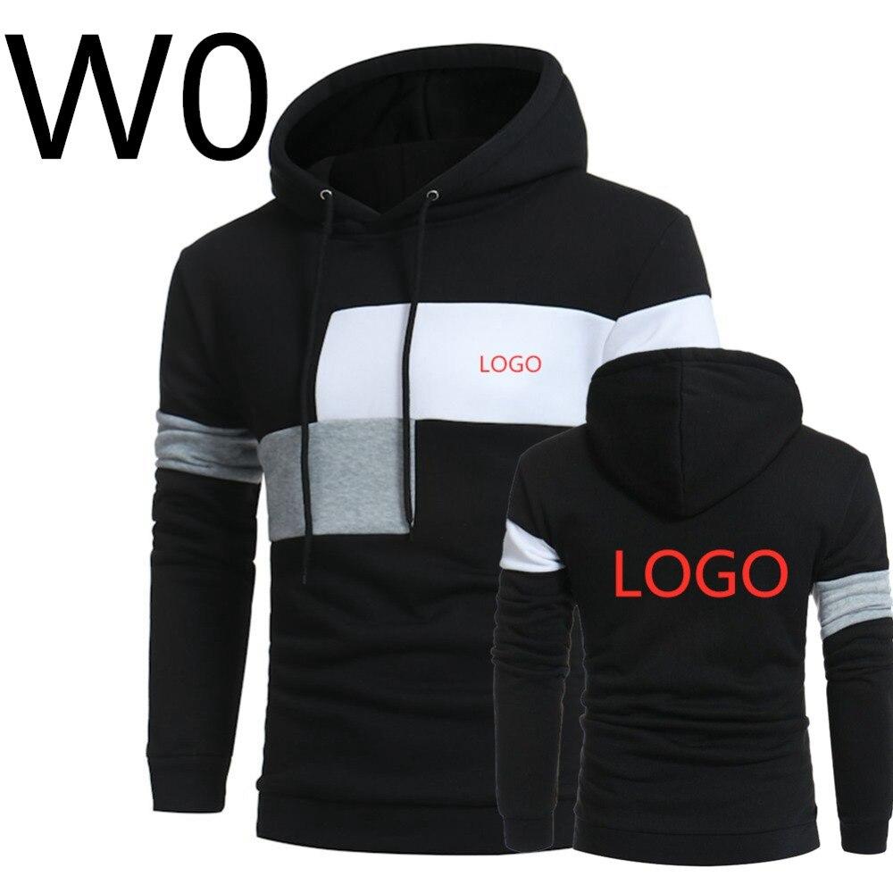 W0 2019 Männer der Freizeit Harajuku Hoodies Drucken Logos Hoody Frühling Schlanke Männliche Patchwork Sweatshirts Mann Mit Kapuze Sport Streetwear Top