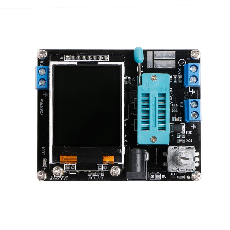 M328 DIY Transistor Tester LCR Diode Capacitance ESR Meter PWM Signal Generator