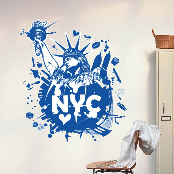 New York Statue Of Liberty City USA Wall Sticker Window Sticker Nursery  Decoration Decal Kids Room