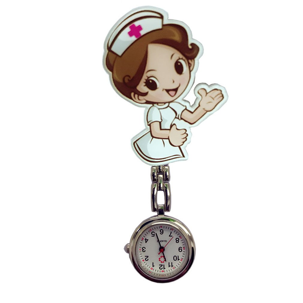 Perfect Gift Nurse Clip-on Fob Brooch Pendant Hanging Watch Star Pocket Watch Fashion Cute Nurse Doctor Wallet Watch