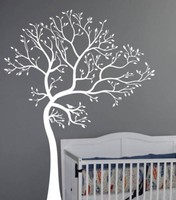 Black White 3D DIY Photo Tree Wall Stickers Art For Kids Room Vinilos Removable Wall Decals