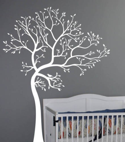 Black White 3d Diy Photo Tree Wall Stickers Art For Kids Room