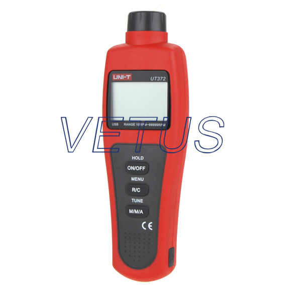UNI-T UT372 Non-contact Tachometer with measuring range 10 to 99,999 RPM uni t ut372 non contact laser tachometer with measuring range 10 to 99 999 rpm