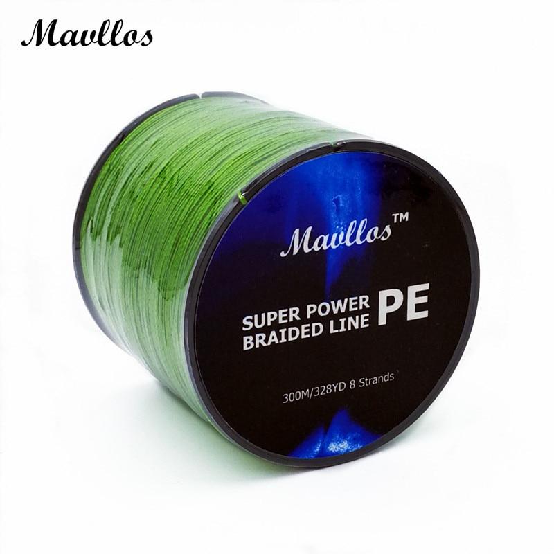 Mavllos brand 300m braided fishing line 8 strands for Braided fishing line for saltwater