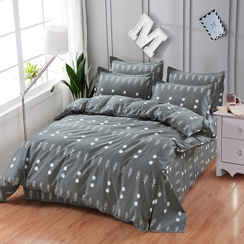 Bedding Set Blackish green Circular point duvet cover quilt cover Twin full queen kiing size Pillow cases home textileBedding Set Blackish green Circular point duvet cover quilt cover Twin full queen kiing size Pillow cases home textile