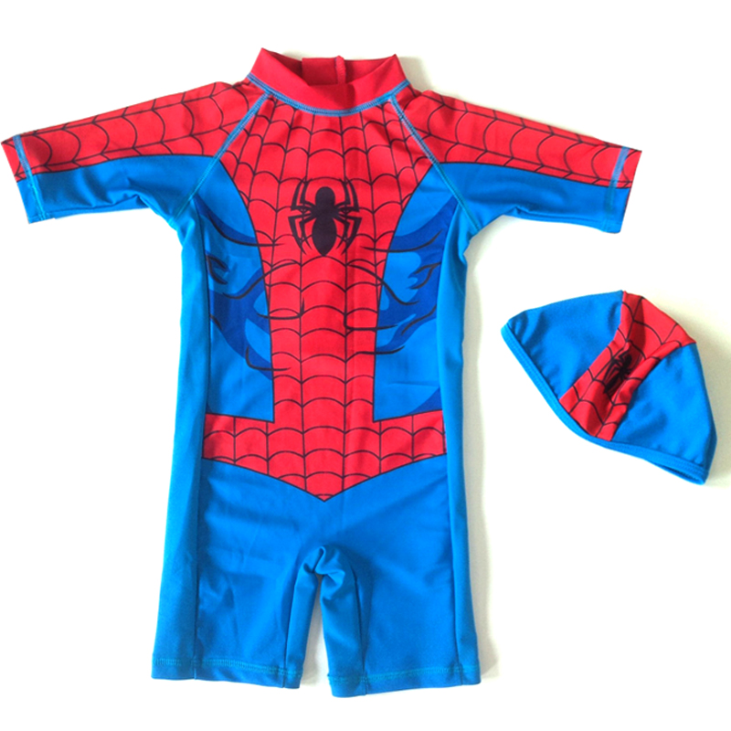 2017 New Baby Costumi Da Bagno Per Bambini Per Bambini Supereroe Del Fumetto Costume Da Bagno Dei Ragazzi Bambini Sunscreen Beachwear Bagno Del Capretto Copre Il Vestito