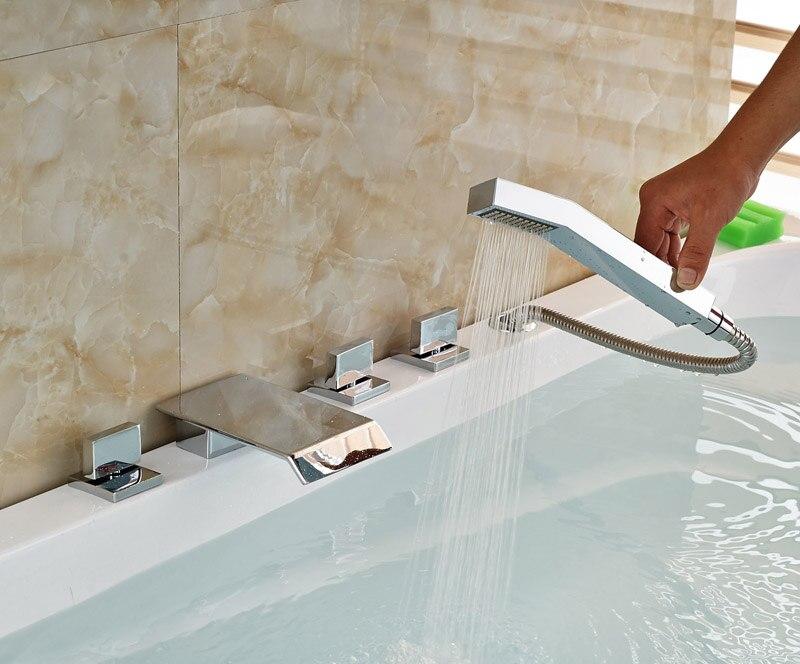 Vasca Da Bagno Di Zinco : ⑤finitura cromata diffuso 5 pz vasca da bagno rubinetto set