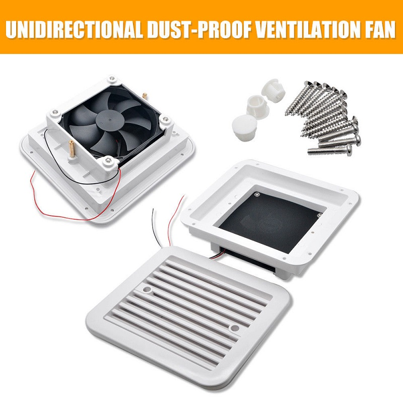Ventilation Fan White Caravan Motorhome Side Exhaust Air Vent Dust-proof New Strong Wind