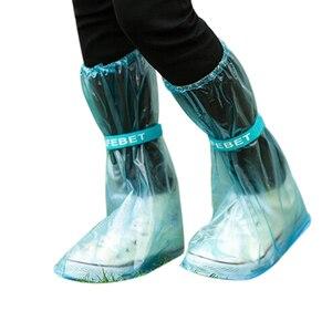 Zapatos de lluvia reutilizables para mujeres/hombres/niños, gruesas botas impermeables, botas planas antideslizantes para lluvia en bicicleta