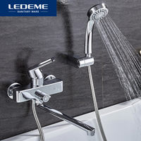 LEDEME 1 Set Bathtub Faucets Classic Single Handle Bathroom Faucet Outlet Pipe Bath Faucet Mixer Tap