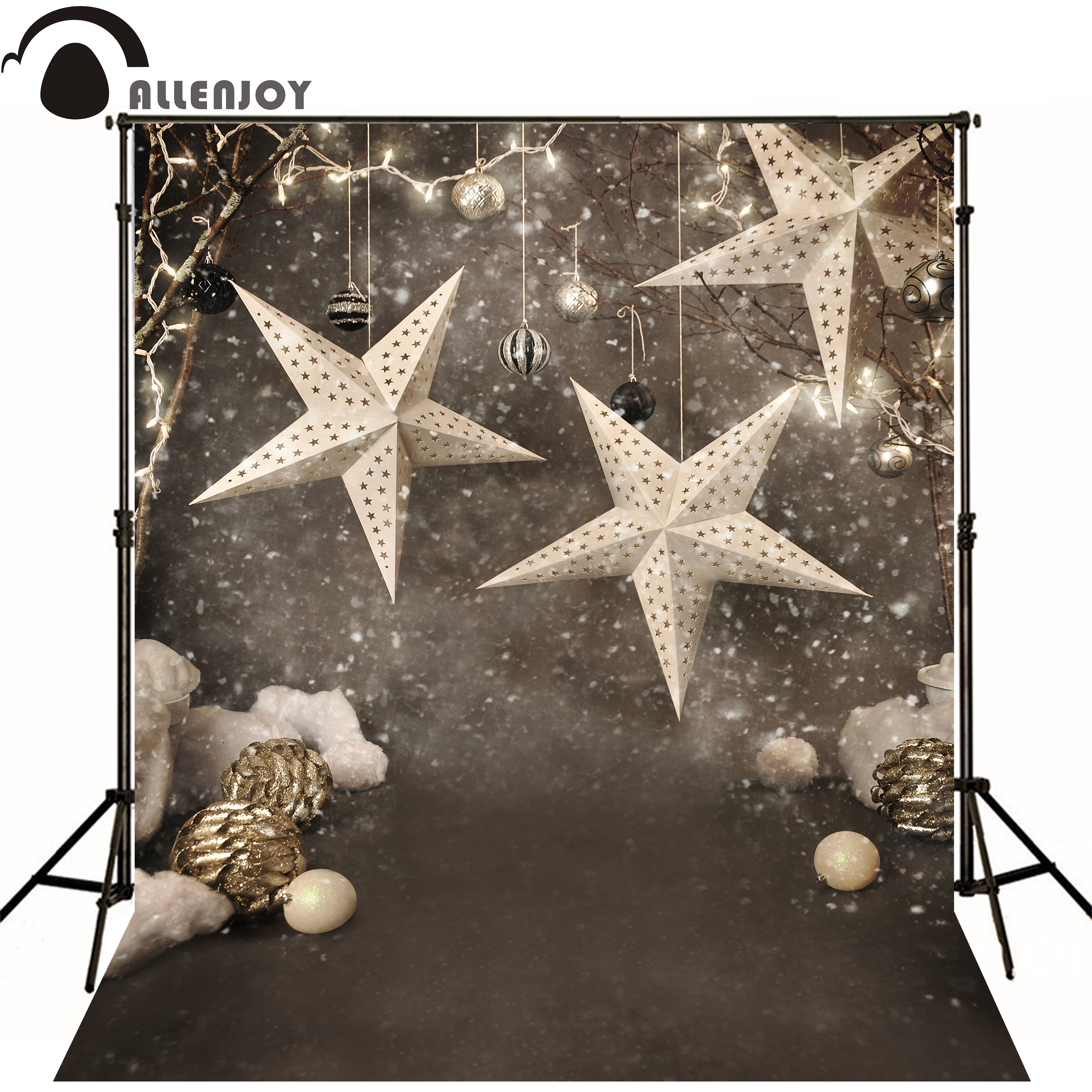 Christmas New years background photography Star Snowflake fun original design vinyl backdrops studio new original xs7c1a1dbm8 xs7c1a1dbm8c warranty for two year