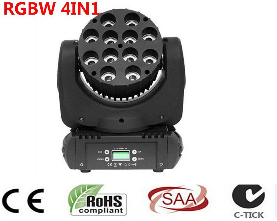 LED fascio moving head light 12x12 w rgbw 4in1 colore con avanzate 9/16 canali dmx per dj disco feste spettacolo luci