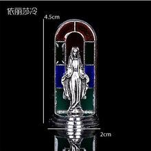 New Charisma Catholic Blue Virgin Mary Figurine, Jesus Cross Statue. St. Christopher's Figurine цены онлайн