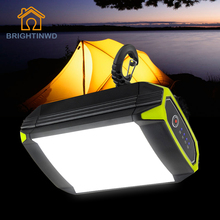 Rechargeable Camping Light Lantern Portable Flasher Mobile Power Bank Flashlight USB Port Waterproof Night Lamp With Hook 500Lm camping light power bank waterproof 3 7v 18650 li ion battery usb rechargeable camping lantern hiking night fishing camping lamp