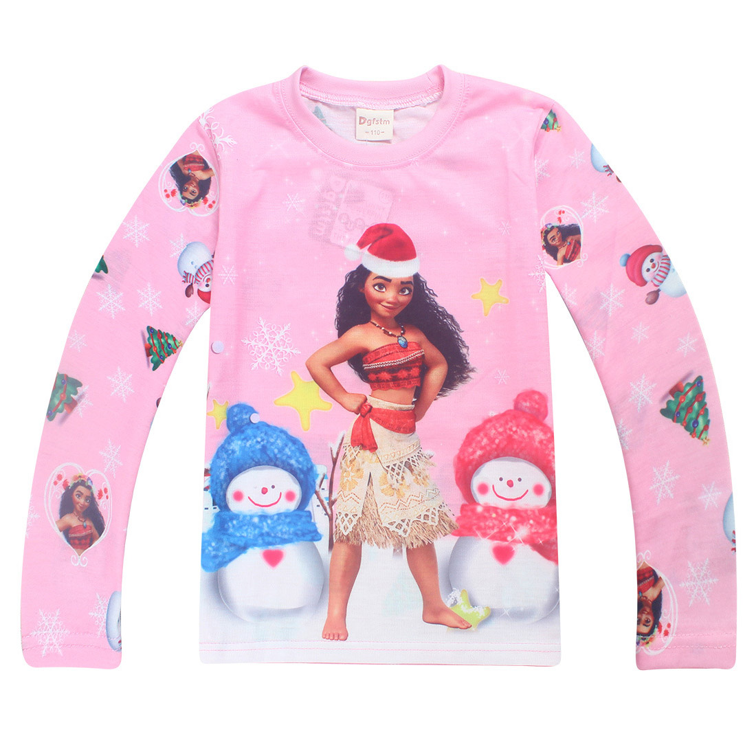 Kids Girls Pajamas Sets Princess Pyjamas Children Christmas Pijama Moana Vaiana Sleepwear Home Clothing Cartoon Cotton Clothing