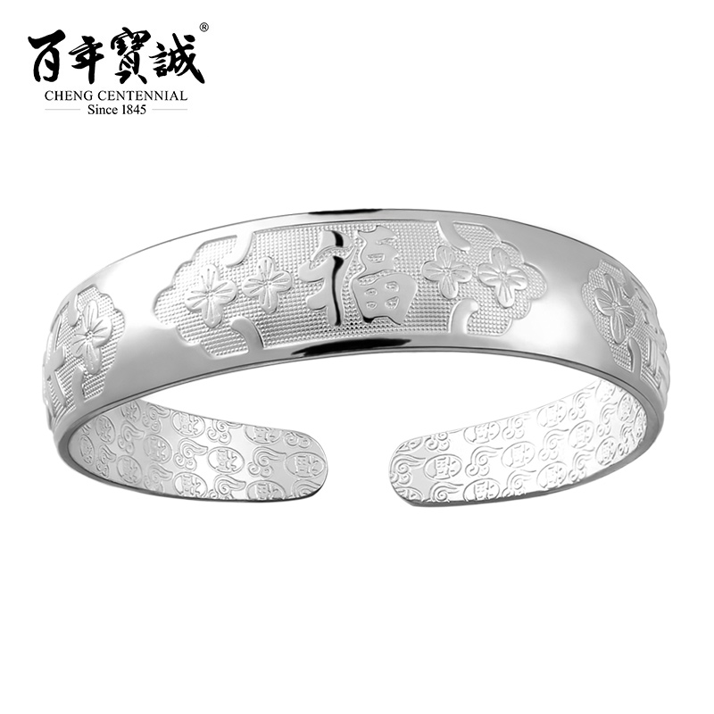 Cheng Centennial --Jewelry-Propitious-Sterling silver-Silver bracelet-Chinese style-Silver jewelry-Ringent bracelet-For female цена 2017