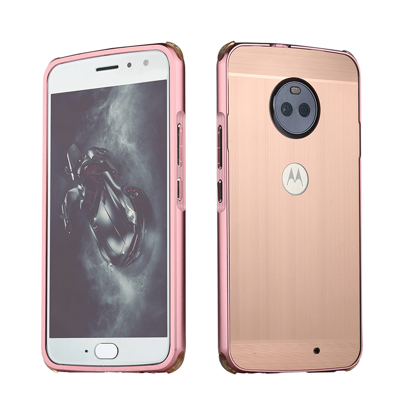 For Motorola Moto G5S Plus Case for Moto G5S Brushed Back Cover Hard Case with Plating Metal Frame Case for Moto G5S Plus 5 5 39 39 in Fitted Cases from Cellphones amp Telecommunications