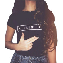 Killin It Fashion Cotton Women T shirt T shirt Tops Harajuku Tee White Black Short Sleeve