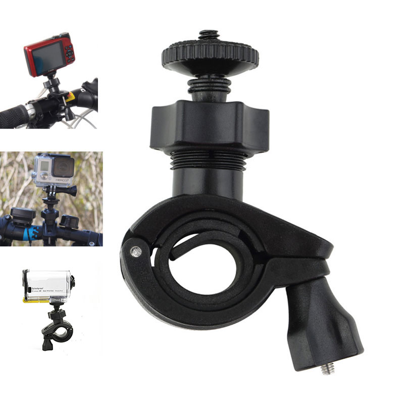 Bike Bicycle Handlebar Tripod Holder Adapter for GoPro Hero 6 5 4 Xiaomi Yi 1 2 4k Sony HD Action Cam Camera Mount Accessories mountain bike bicycle mount stand for gopro hero black