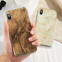 KISSCASE Case For iPhone X Case iPhone 7 8 6 6S Plus Marble Gold Foil Glue Soft Silicone Cover For iPhone 5S 5 SE 7 8 6 6S Coque 5