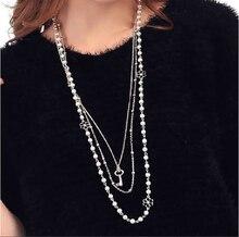 Key Imitation Pearl Maxi Necklace