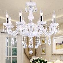 Lustres araña de Cristal Led iluminación del hogar luminaria Moderna cocina comedor Living room candelabros candelabro
