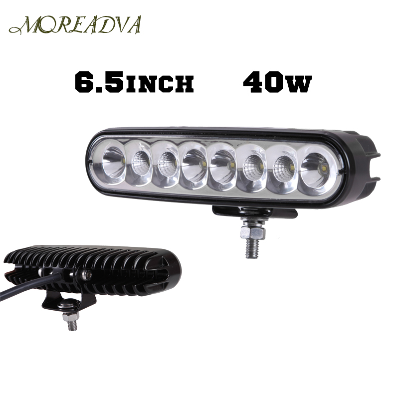 ФОТО 6.5 Inch 40W Led Driving Light Bar Offroad Day Time Running Lights Combo Beam 4x4 Truck ATV Reverse Motorcycle Light18W/27W