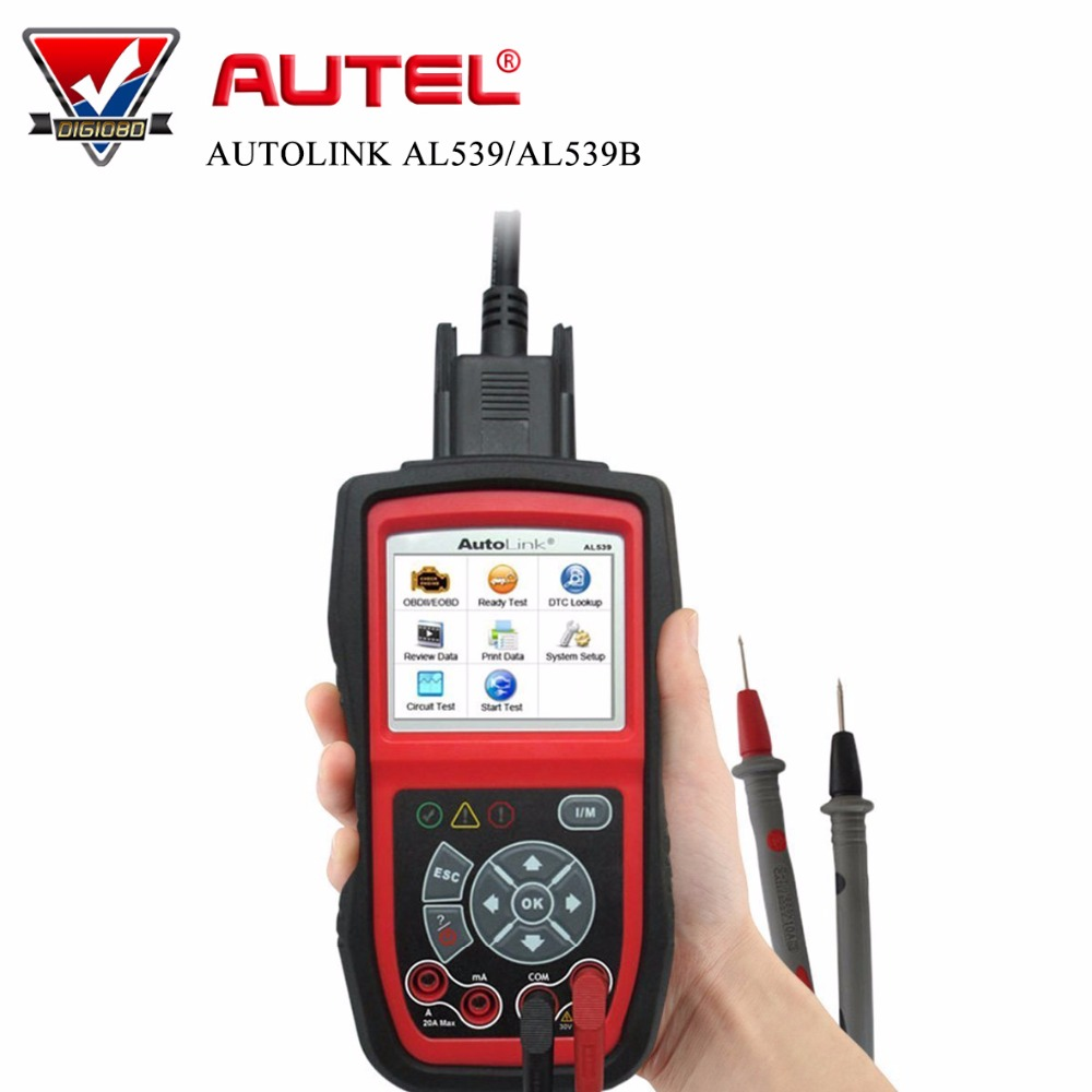AUTEL AutoLink AL539/AL539B OBDII and Electrical Test Tool with AVO Meter NEXT GENERATION OBDII&CAN SCAN TOOL free Online Update original autel autolink al439 obdii eobd & can scan and electrical test tool obd2 scanner on sale